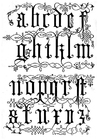 Coloring page 16th century lettertype