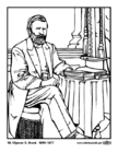 Coloring pages 18 Ulysses S. Grant