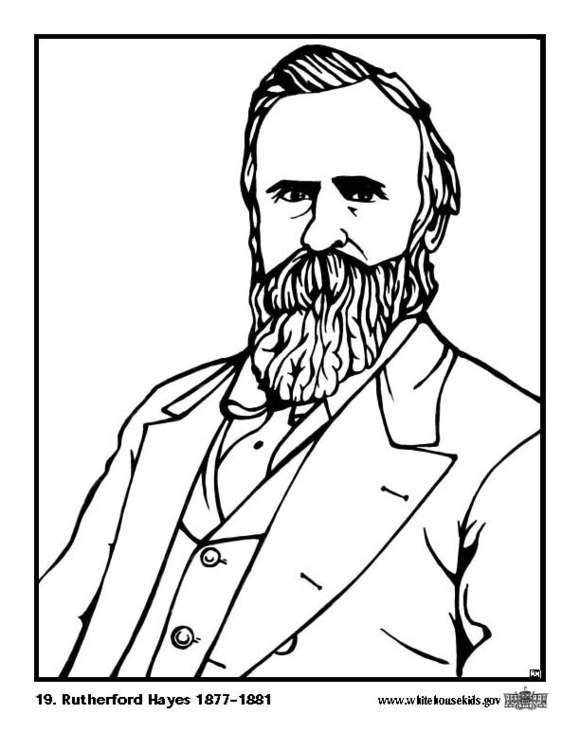 Coloring page 19 Rutherford Hayes