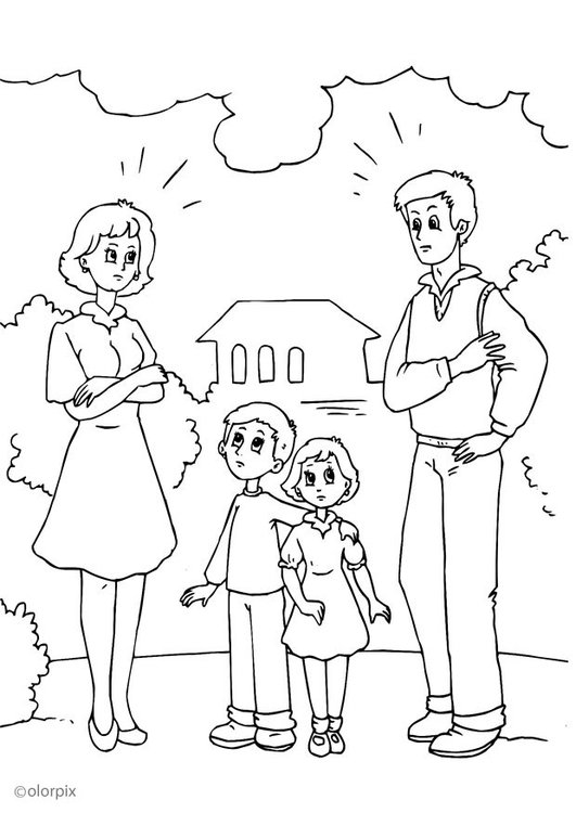 Coloring page 2. divorce