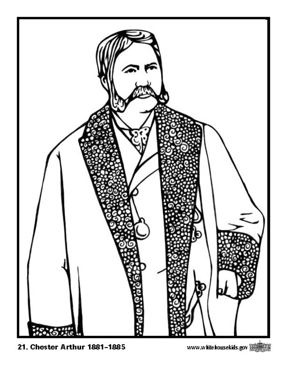 Coloring page 21 Chester Arthur