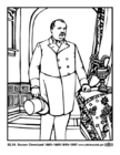 Coloring page 22 - 24 Grover Cleveland