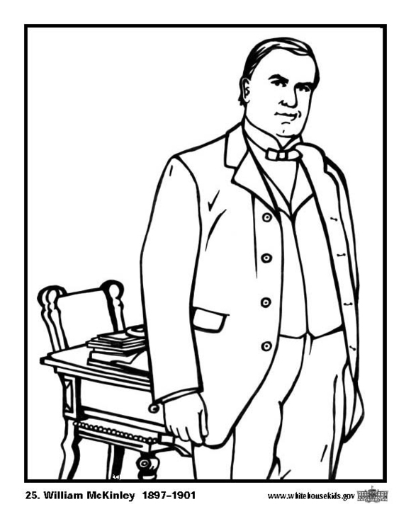 Coloring page 25 William McKinley