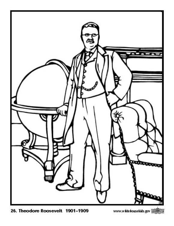 Coloring page 26 Theodore Roosevelt