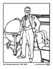 Coloring pages 26 Theodore Roosevelt