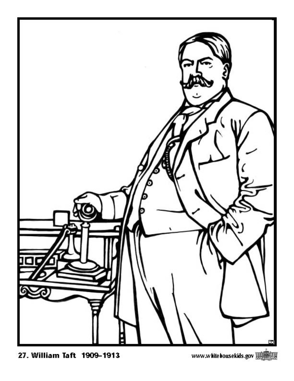 Coloring page 27 William Taft