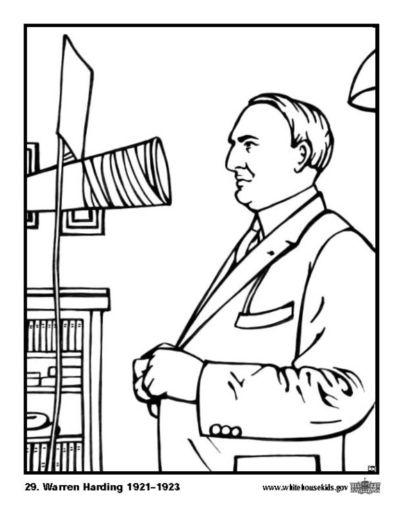 Coloring page 29 Warren Harding