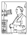 Coloring pages 29 Warren Harding