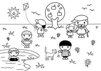 Coloring page 2b summer