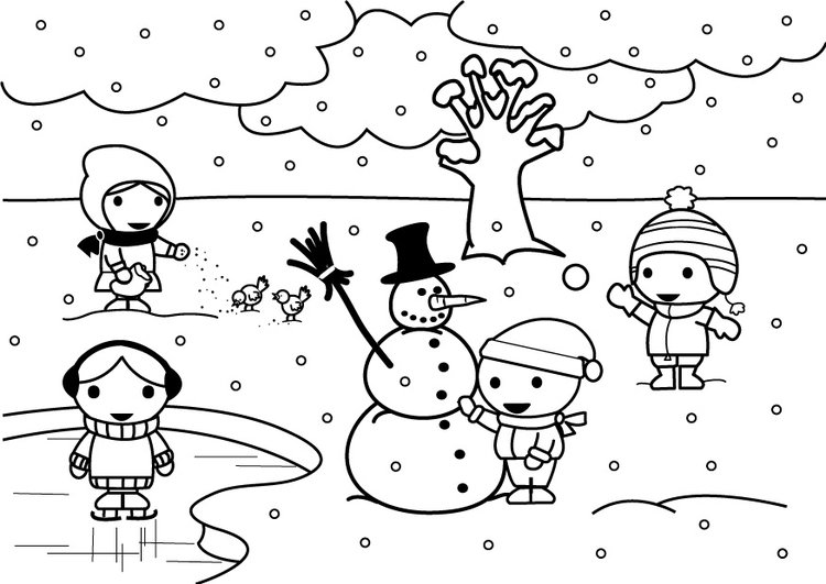 Coloring page 2b winter