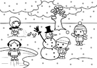 Coloring pages 2b winter