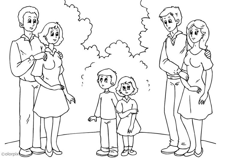 Coloring page 3. parents with new partners