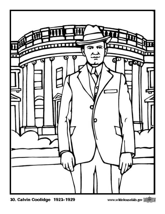 Coloring page 30 Calvin Coolidge