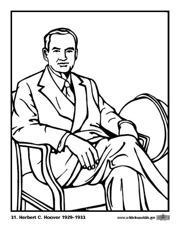 Coloring page 31 Herbert C. Hoover