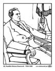 Coloring page 32 Franklin Delano Roosevelt