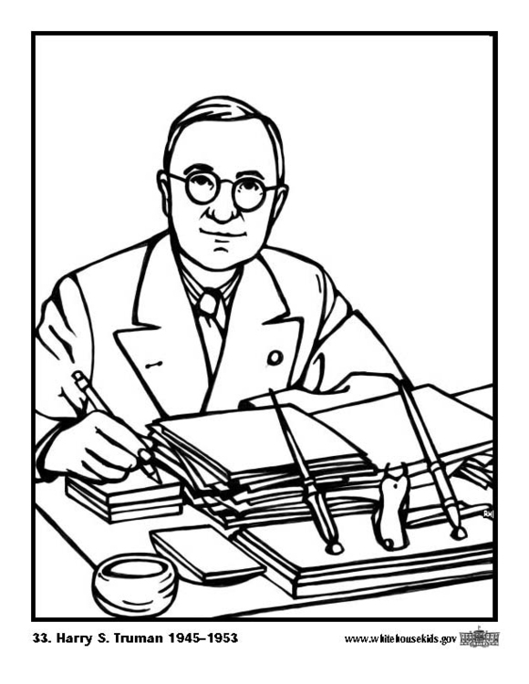 Coloring page 33 Harry S. Truman