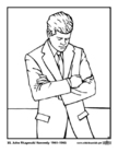 coloring page 35 john fitzgerald kennedy
