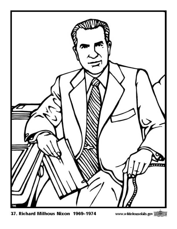 Coloring page 37 Richard Milhous Nixon