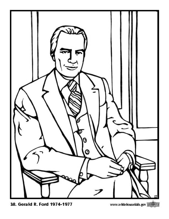 Coloring page 38 Gerald R. Ford