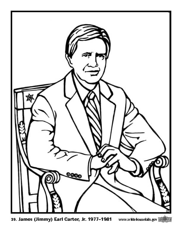 Coloring Page 39 James Jimmy Earl Carter Jr Img 12578