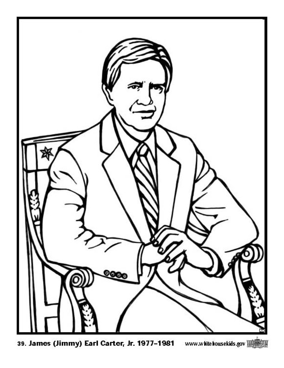 Coloring page 39 James Jimmy Earl Carter Jr.