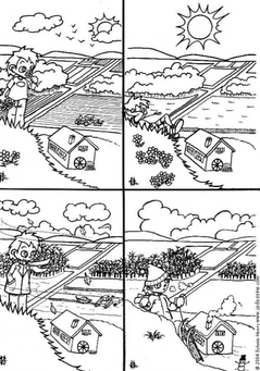 Coloring page 4 seasons