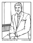 Coloring pages 40 Ronald Wilson Reagan
