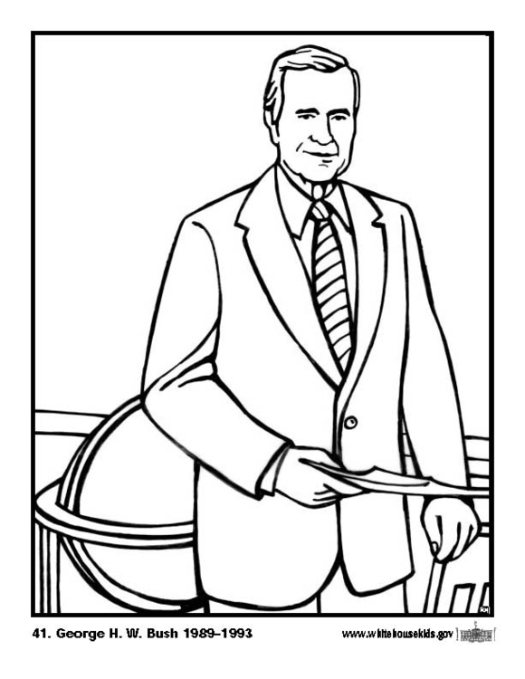 Coloring page 41 George H. W. Bush