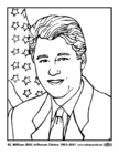 Coloring pages 42 William (Bill) Jefferson Clinton