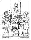 Coloring pages 43 George W. Bush