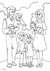 Coloring page 5. father's new family