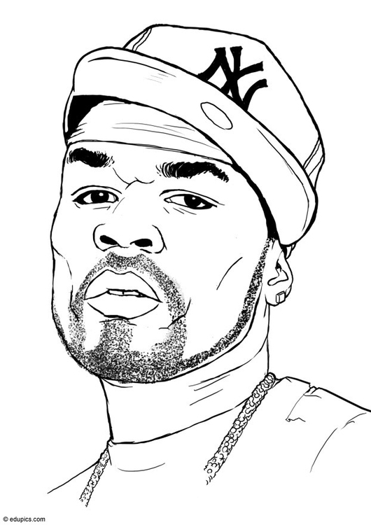 Coloring page 50 Cent