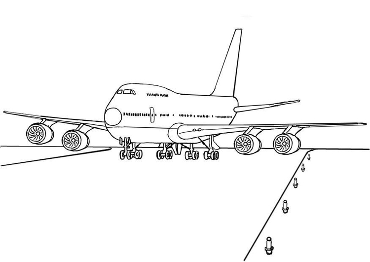 Coloring page 747 airplane
