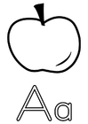 Coloring pages English alphabet 1