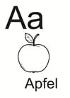 Coloring pages German alphabet 1