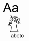 Coloring pages Alphabet - Spanish