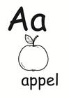 Coloring pages Alphabet Dutch 2