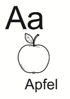 Coloring pages Alphabet German 1
