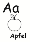 Coloring pages Alphabet German 2