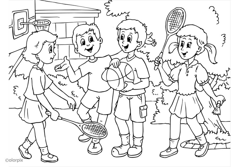 Coloring page a01 - friendship