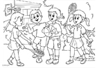 Coloring pages a01 - friendship