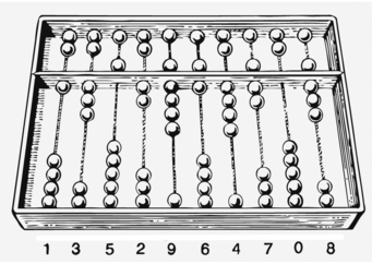 Coloring page Abacus - counting frame
