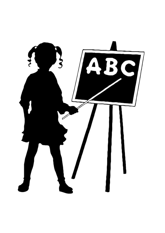 Coloring page abc