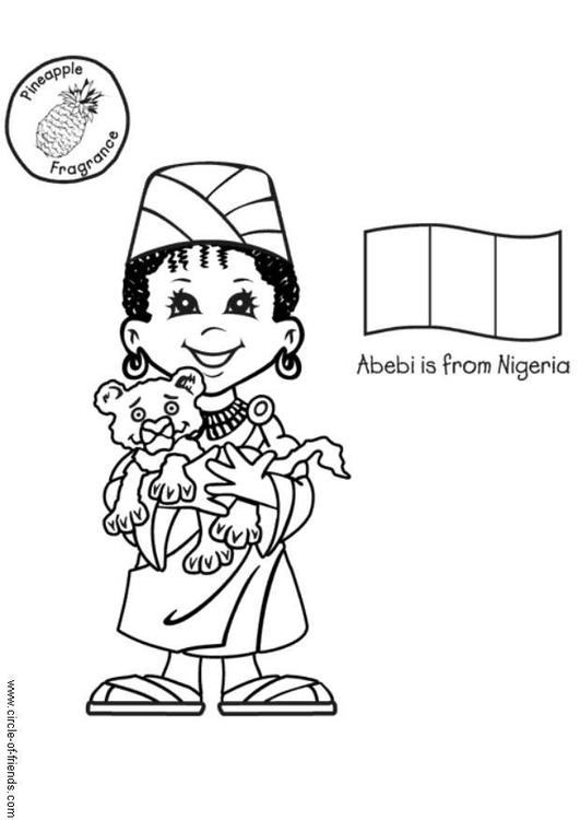 Coloring Page Abebi