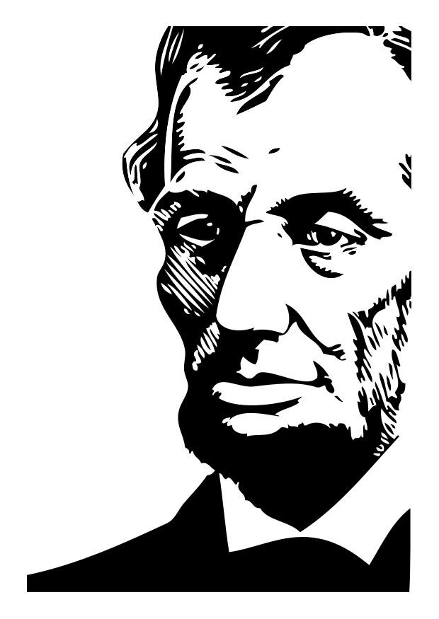 Coloring page abraham lincoln img 26274 for Lincoln coloring pages