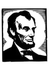 Coloring pages Abraham Lincoln