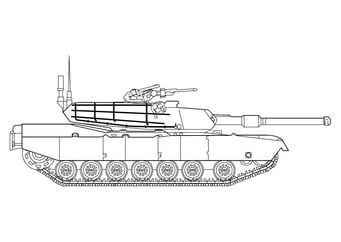 Coloring page Abrahm's tank