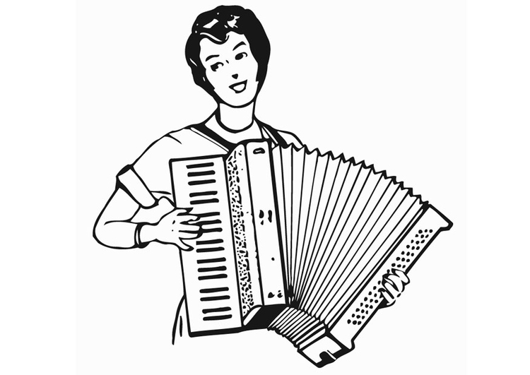 Coloring page Accordion