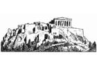 Coloring page Acropolis