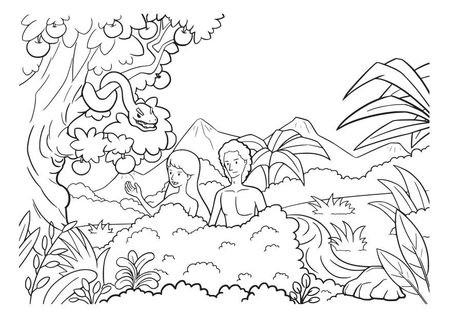 Coloring Page Adam And Eve Free Printable Coloring Pages